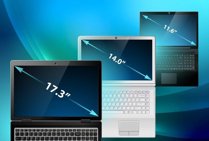 размеры ноутбуков,экран