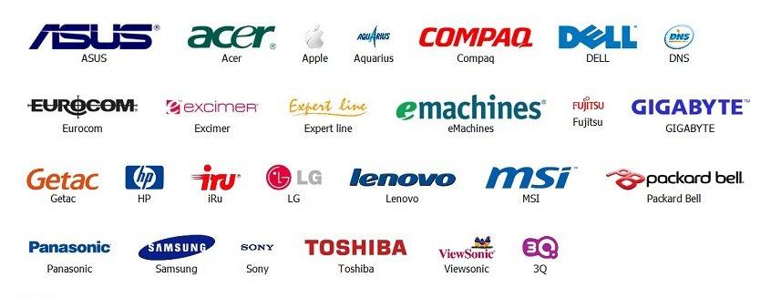 список производителей ноутбуков