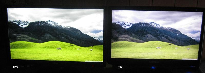 разница в качестве мониторов ips & tn
