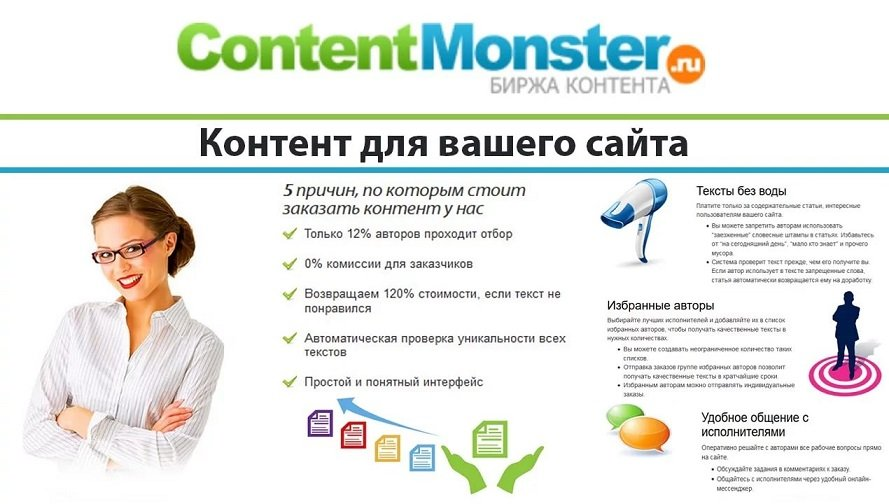 биржа копирайтинга contentmonster.ru