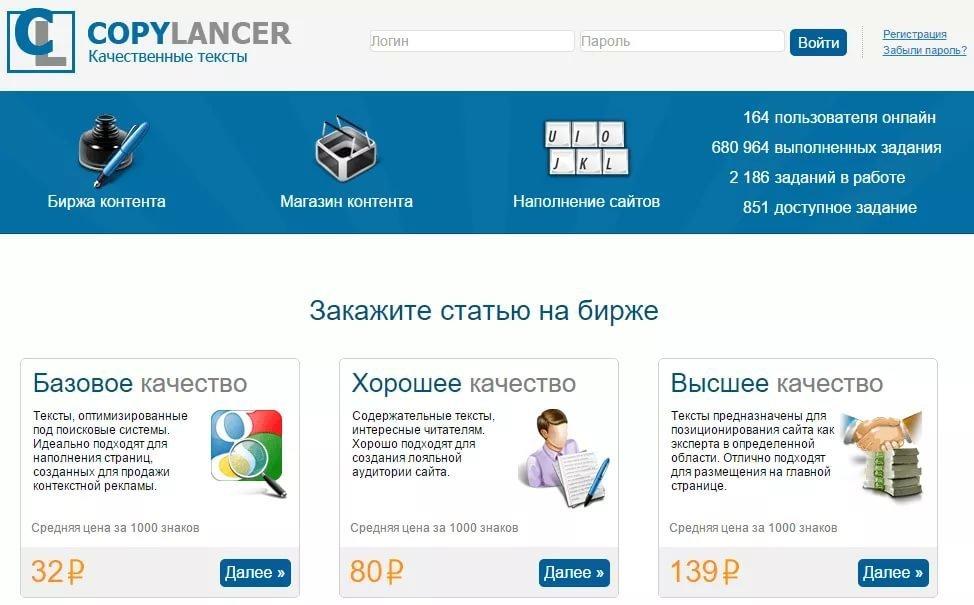 copylancer.ru биржа контента