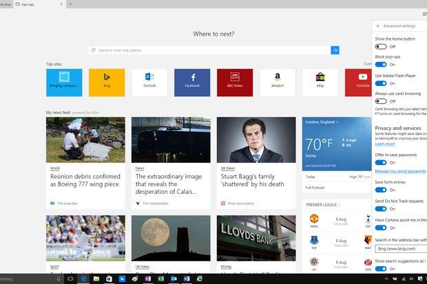 Microsoft переделывает функционал браузера Edge